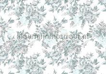Romantic pattern fotobehang Kleurmijninterieur Bloemen---Planten