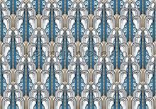 Classic pattern fotobehang Kleurmijninterieur Klassiek