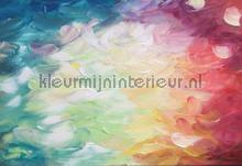 Paint touches in bright colors fotobehang Kleurmijninterieur Kunst Ambiance
