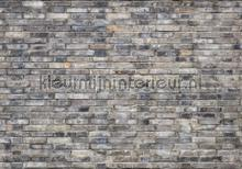 Grey brick wall photomural Kleurmijninterieur all-images