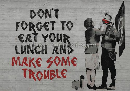 Kleur Mijn Interieur : Banksy lunch fotobehang abstract and art kleurmijninterieur