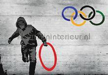 Banksy olympic fotobehang Kleurmijninterieur Kunst---Ambiance