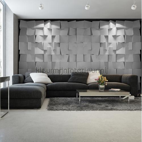 square 3d cold fotobehang abstract and art kleurmijninterieur. Black Bedroom Furniture Sets. Home Design Ideas