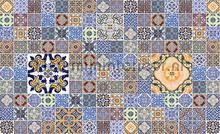Maroccan tiles pattern fotobehang Kleurmijninterieur Modern Abstract