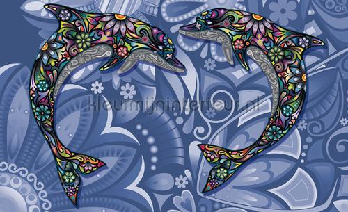 Kleur Mijn Interieur : Dolphin art photomural animals kleurmijninterieur