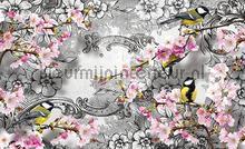 Blossom birds fotobehang Kleurmijninterieur Bloemen---Planten