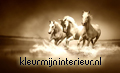 Galloping horses sepia thema