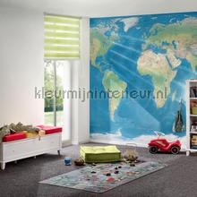 De wereld photomural Architects Paper world maps