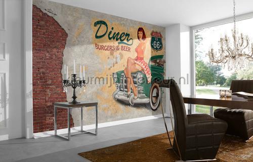 American dinner fotobehang dd105959 Interieurvoorbeelden fotobehang Architects Paper