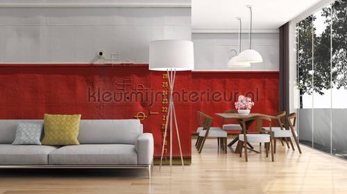 Sailer red fotobehang dd108590 Interieurvoorbeelden fotobehang Architects Paper
