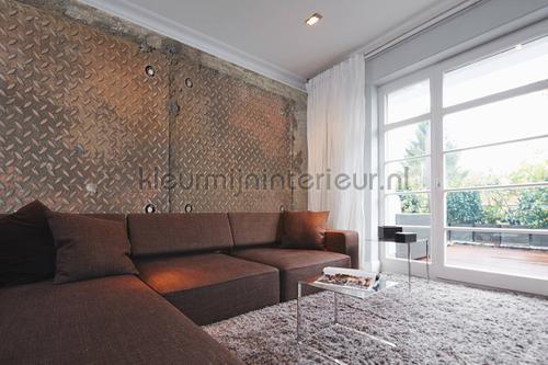 Iron plate 3 fotobehang dd108610 Interieurvoorbeelden fotobehang Architects Paper