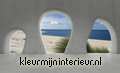 View on the beach from cave photomural Kleurmijninterieur all-images
