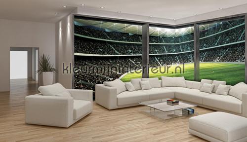 Hoekstadium fotobehang | kleurmijninterieur.nl