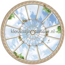 Plafondraam fotobehang Kleurmijninterieur Oosters Trompe loeil