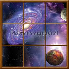 Planets fotobehang Kleurmijninterieur Ruimte---Heelal