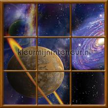 Planet fotobehang Kleurmijninterieur Ruimte---Heelal