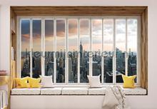 New york seen through window photomural Kleurmijninterieur all-images