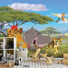 Animated lion and hippopotamus fototapet Kleurmijninterieur All-images