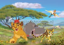 Animated lion and hippopotamus fottobehaang Kleurmijninterieur tiener