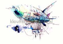 Zeppelin fottobehaang Kleurmijninterieur tiener