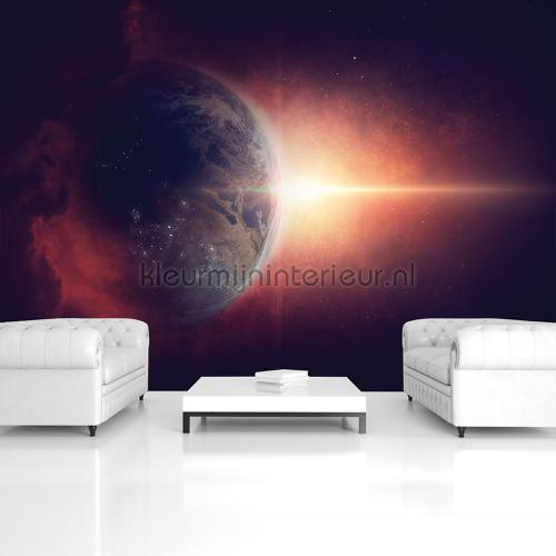 Earth dark and light fotobehang 12924ve-l Boys Kleurmijninterieur