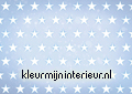 Stars white on blue background fotobehang Kleurmijninterieur kinderkamer jongens