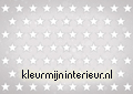 Stars white on grey background fotobehang Kleurmijninterieur kinderkamer jongens