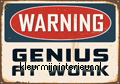 Warning Genius at work fototapet Kleurmijninterieur All-images