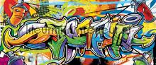 Colourful graffiti fototapet Kleurmijninterieur All-images