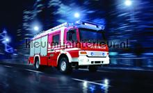 Fire truck fototapet Kleurmijninterieur teenagere