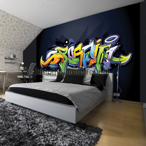 Freestyle graffiti fotobehang boys kleurmijninterieur for Wandtattoo jugendzimmer jungen graffiti