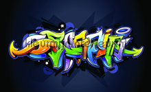 Freestyle graffiti fotobehang Kleurmijninterieur kinderkamer jongens