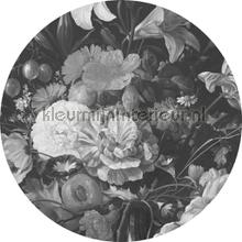 golden age flowers photomural Kek Amsterdam Circles and Panels ck-009
