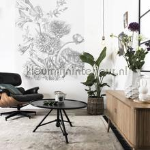 engraved flowers photomural Kek Amsterdam Circles and Panels pa-013