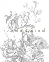 engraved flowers photomural Kek Amsterdam Circles and Panels pa-015