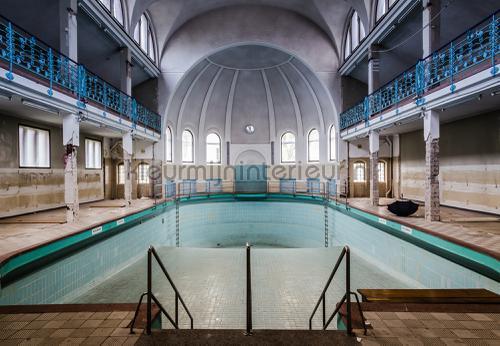 Old swimming pool fotomurales 12635ve-l City Kleurmijninterieur