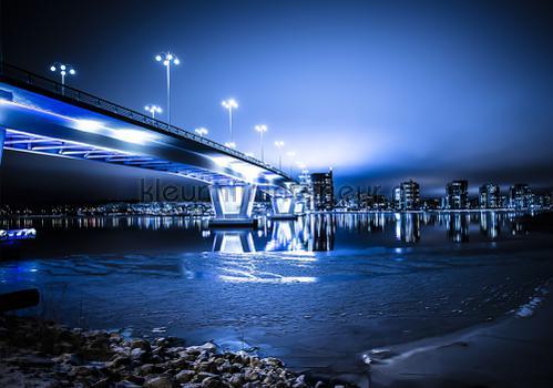 Night blue in the city fotomurales 12991ve-l Kleurmijninterieur