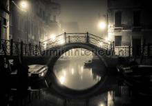 Little bridge at night fotomurali Kleurmijninterieur Tutti-immagini