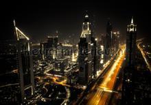 City nightview fotomurali Kleurmijninterieur Tutti-immagini