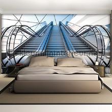 Escalators fotobehang Kleurmijninterieur Steden Gebouwen