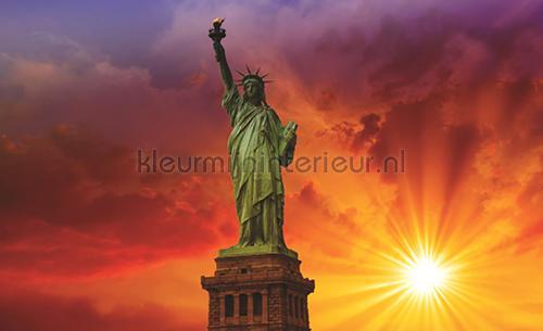 Sunny statue of liberty fotomurales 850-VE-M City Kleurmijninterieur