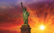 Sunny statue of liberty fotomurali Kleurmijninterieur Tutti-immagini