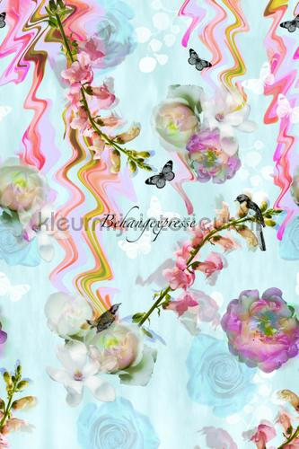 Florals Glitch fotobehang INK6054 Colour Choc Behang Expresse