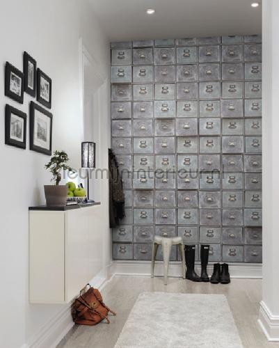 Grey Boxes fototapet r12831 Curious Rebel Walls