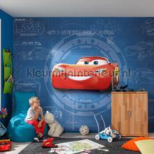 Cars 3 blueprint fotobehang Komar Disney Pixar