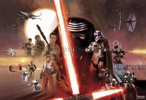 star wars ep7 collage fotobehang 8-492 Disney Edition 3 Komar