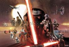 star wars ep7 collage fotobehang Komar Disney Edition 3 8-492