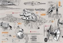 star wars blueprints fotobehang Komar Disney Edition 3 8-493