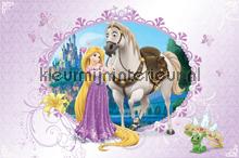 Rapunzel met paard fotobehang Kleurmijninterieur Disney---Pixar
