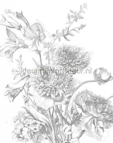 engraved flowers photomural pa-013 Flowers - Plants Kek Amsterdam